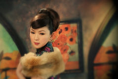 Retro Chinees Model Royalty-vrije Stock Fotografie