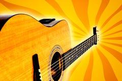 Retro chitarra acustica illustrazione vettoriale