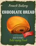 Retro Chocolate Bread Poster Stock Photos