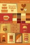 Retro Chocolate collection royalty free illustration
