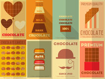 Retro Chocolate posters collection Royalty Free Stock Photography