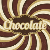Retro Chocolate Sign - Vintage Background Stock Photos