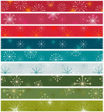 Retro christmas. Borders set, various colors Stock Images