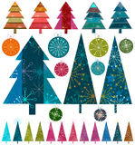 Retro christmas vector illustration