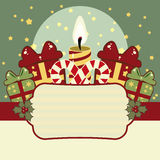 Retro Christmas background Royalty Free Stock Photo