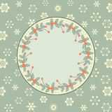Retro christmas background green Royalty Free Stock Image