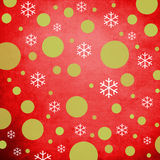 Retro Christmas Background. With green and white ornaments Stock Photo
