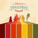Retro Christmas Background Royalty Free Stock Photography