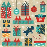 Retro Christmas background Stock Image