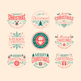 Retro christmas badges Stock Photography