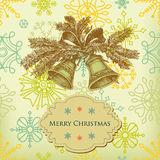 Retro Christmas bells Royalty Free Stock Photos