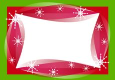 Retro Christmas Border Frame royalty free illustration