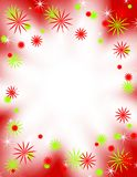 Retro Christmas Border Frame. A border or frame illustration featuring retro style stars or snowflakes in red, green and white vector illustration