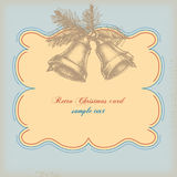 Retro Christmas card Royalty Free Stock Photography