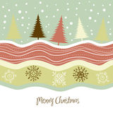 Retro Christmas Card Stock Image