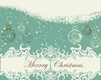 Retro christmas card Royalty Free Stock Photos
