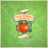 Retro Christmas card. Retro Christmas card with toys. Eps10 Royalty Free Stock Photos
