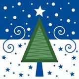Retro Christmas Card [Blue] Stock Photo