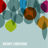 Retro Christmas card with christmas decorations Royalty Free Stock Photography