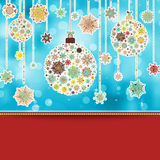 Retro Christmas Card. EPS 8 Royalty Free Stock Photo