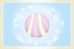 Retro Christmas card. Illustration without text - available as jpg and eps-file stock illustration