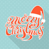 Retro Christmas card with long shadow. Stock Photos