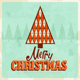 Retro christmas card Stock Photo