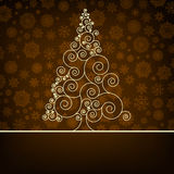 Retro christmas card Template. EPS 8 Royalty Free Stock Photography