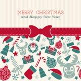 Retro Christmas Card. Typography. Royalty Free Stock Image