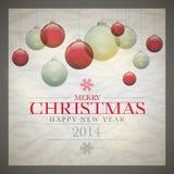 Retro Christmas Card Royalty Free Stock Image