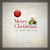 Retro Christmas Card Stock Images