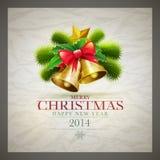 Retro Christmas Card Royalty Free Stock Photo