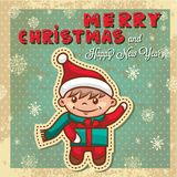 Retro christmas card Stock Photo