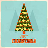 Retro christmas card Royalty Free Stock Photo