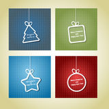 Retro Christmas cards Royalty Free Stock Photography