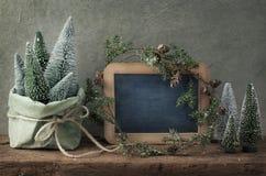 Retro christmas decoration stock images