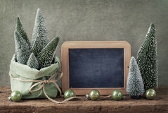 Retro christmas decoration Royalty Free Stock Images