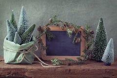 Retro christmas decoration Stock Photos
