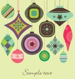 Retro Christmas decorations Stock Images