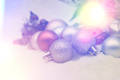 Retro Christmas decorations background Stock Photos