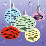 Retro Christmas Decorations Royalty Free Stock Images