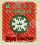 Retro Christmas Design Stock Photo