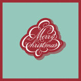 Retro Christmas design. Vector illustration. Royalty Free Stock Image