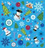 Retro Christmas Element Set Royalty Free Stock Photo
