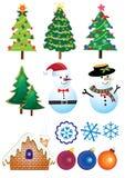 Retro Christmas Element Set Royalty Free Stock Photos