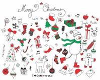 Retro Christmas elements Stock Photo