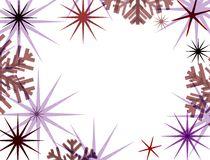 Retro christmas frame. Star and snowflake border Stock Photo