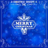 Retro Christmas Frame Royalty Free Stock Images