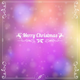Retro Christmas Frame Royalty Free Stock Images