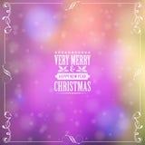 Retro Christmas Frame Stock Photography